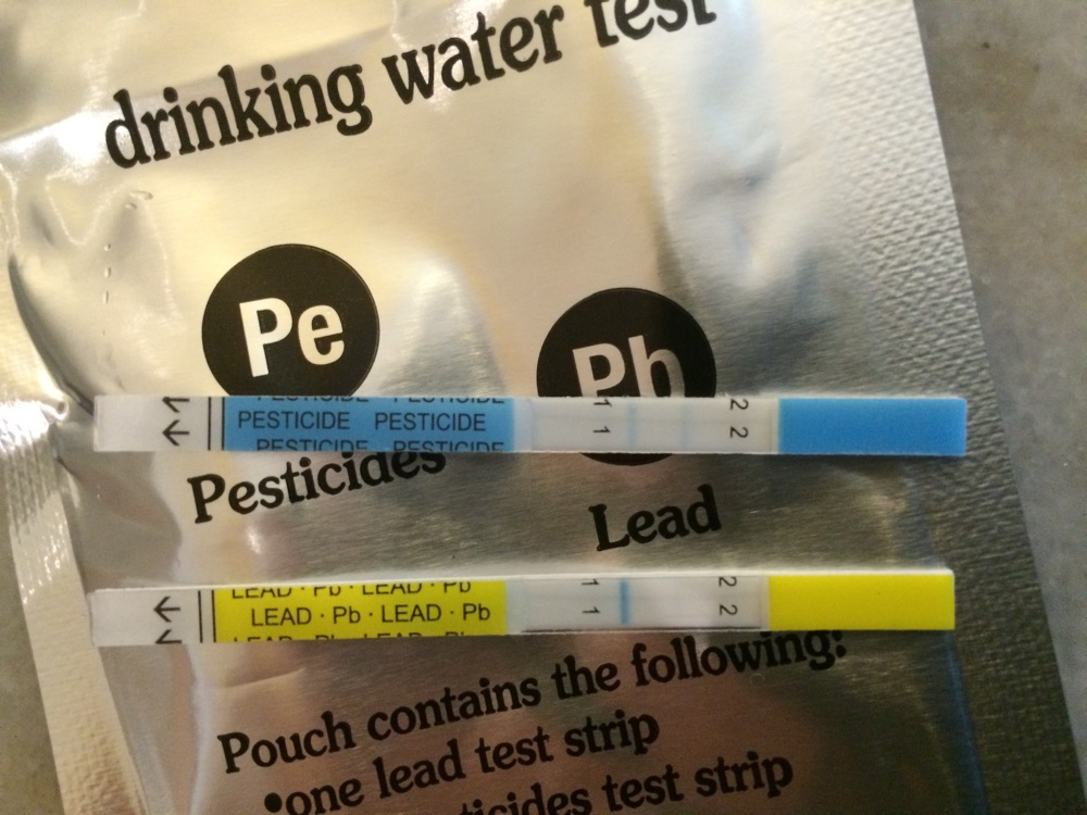Water pesticide test