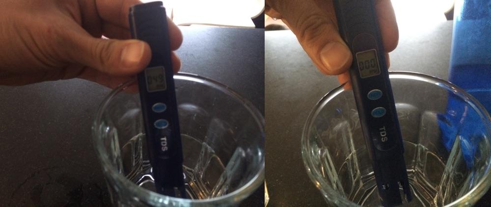 Water testing TDS meter