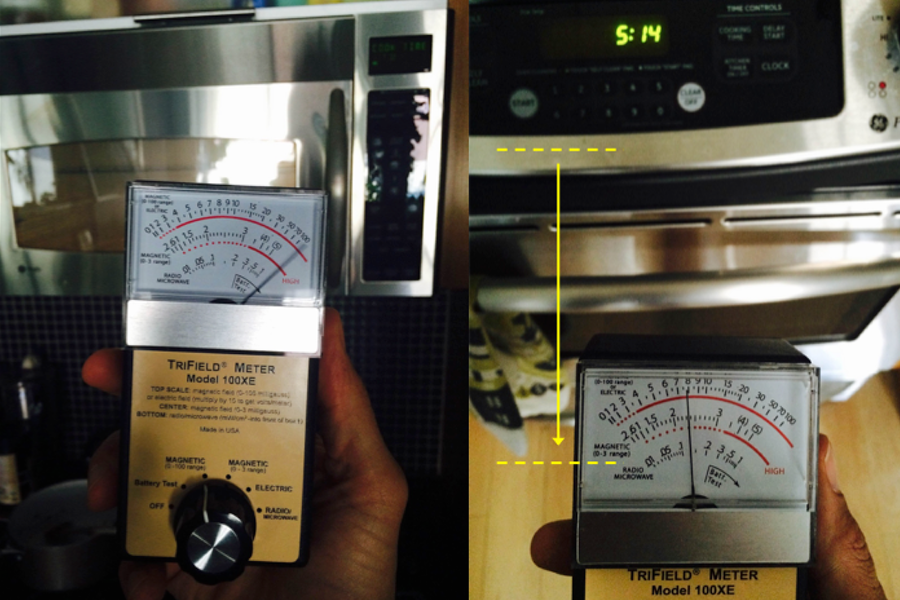EMF levels in kitchen