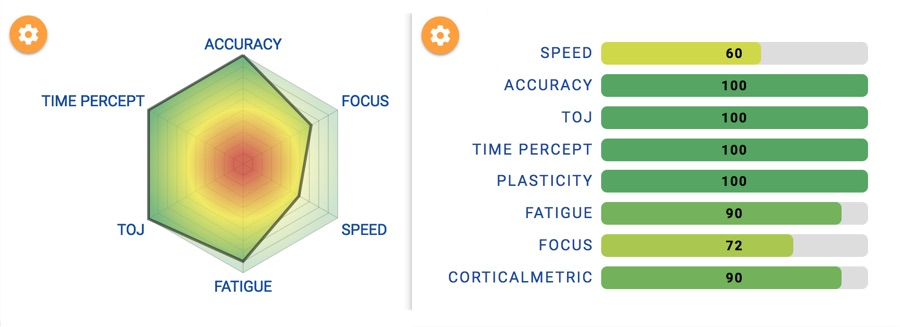 Brain Gauge results first time