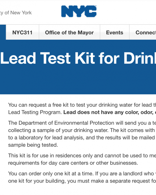Free Drinking Water Lead Test