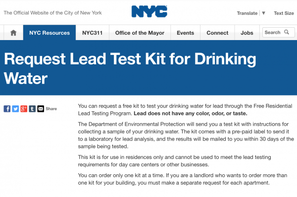 Free Drinking Water Lead Test