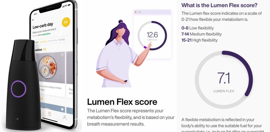 Lumen's Flex Score and daily diet recommendations